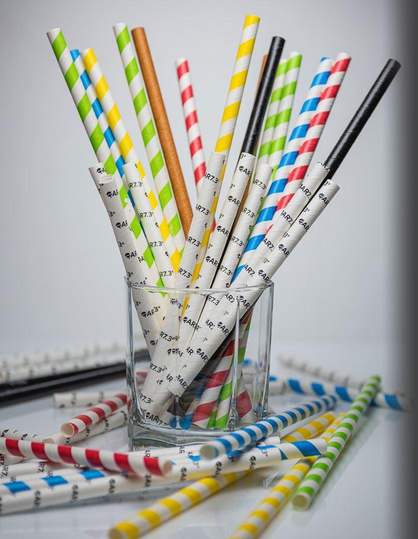Custom Printed Paper Straws With Your Logo. 1   Cannucce di carta QAR7.3 - Made in Europe